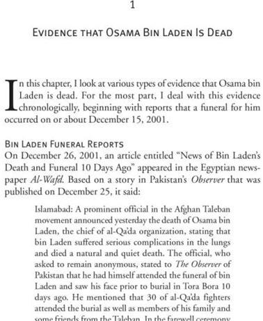 Osama Bin Laden Dead or Alive